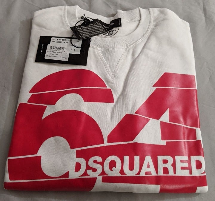 Dsquared2 64 Logo  Sweatshirt White XL