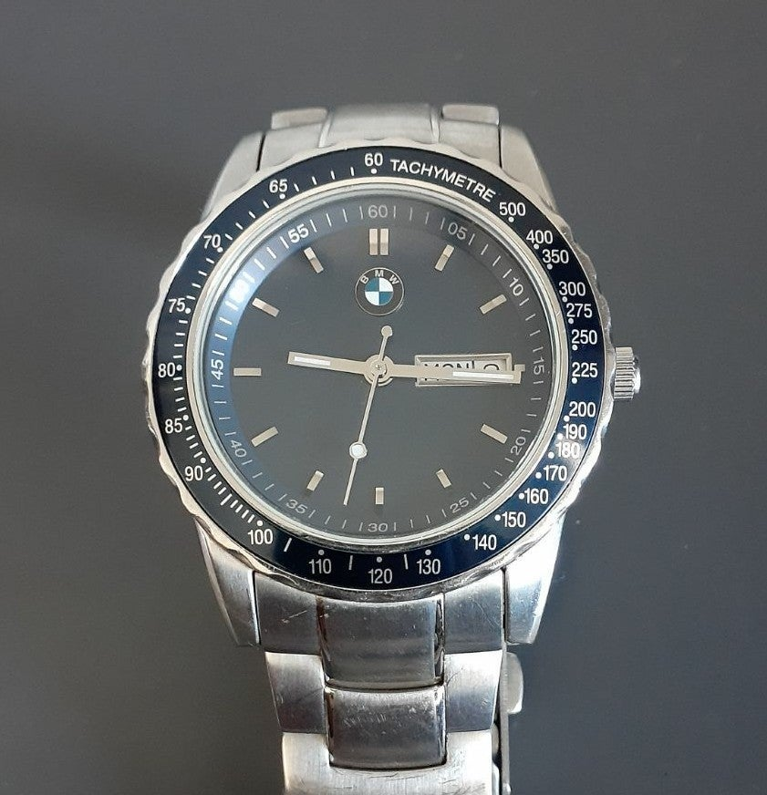 BMW mens stainless steel watch