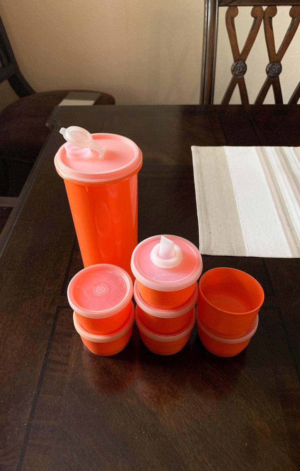 Vintage tupperware Orange Lot