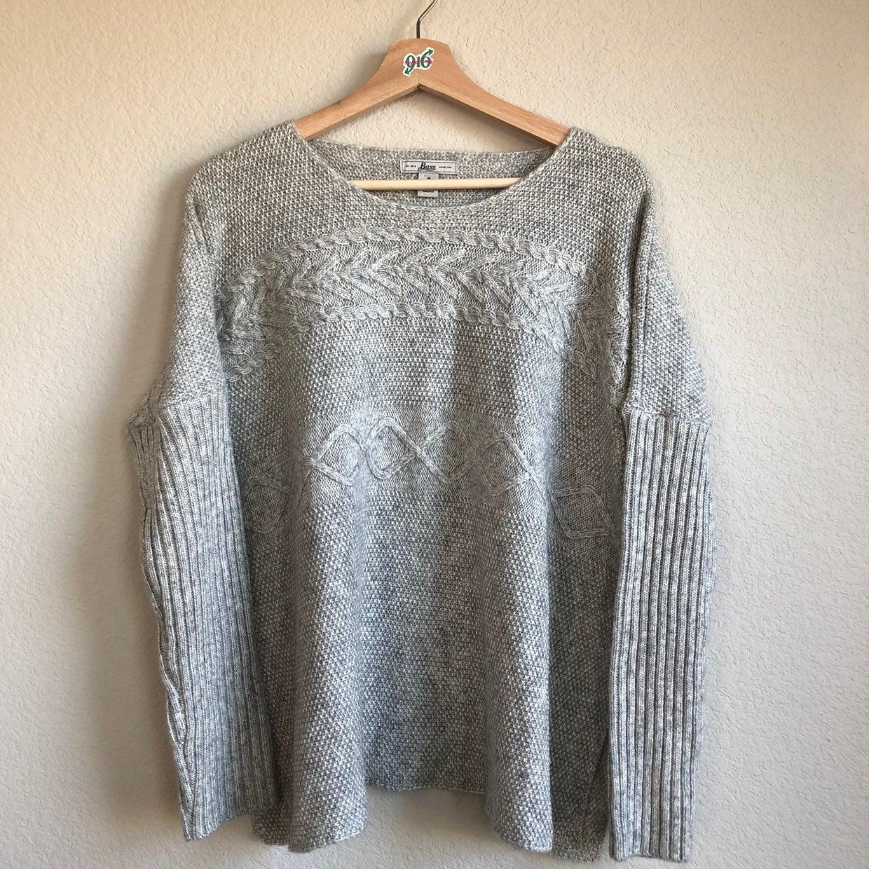 Bass Boxy Sweater Wool blend Size Medium