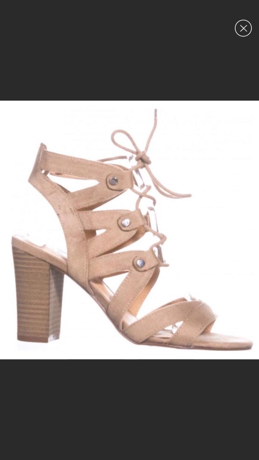 XOXO Balta Tan Ghillie Gladiator Sandals