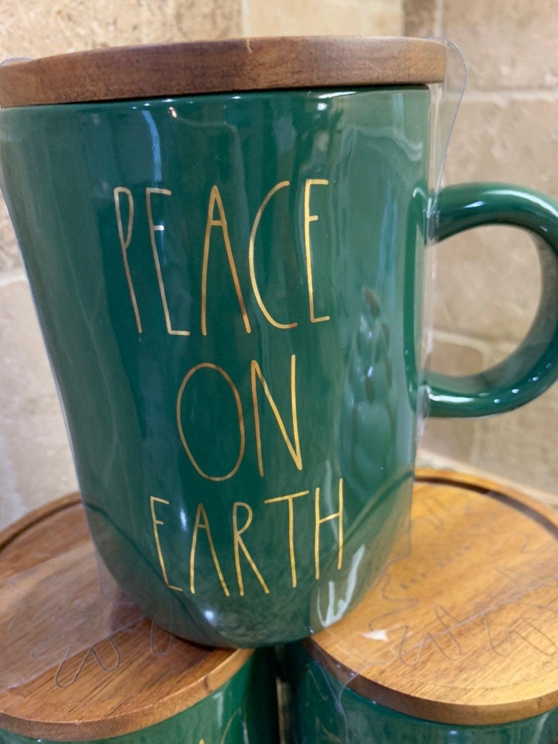 Rae Dunn Peace on Earth Mug