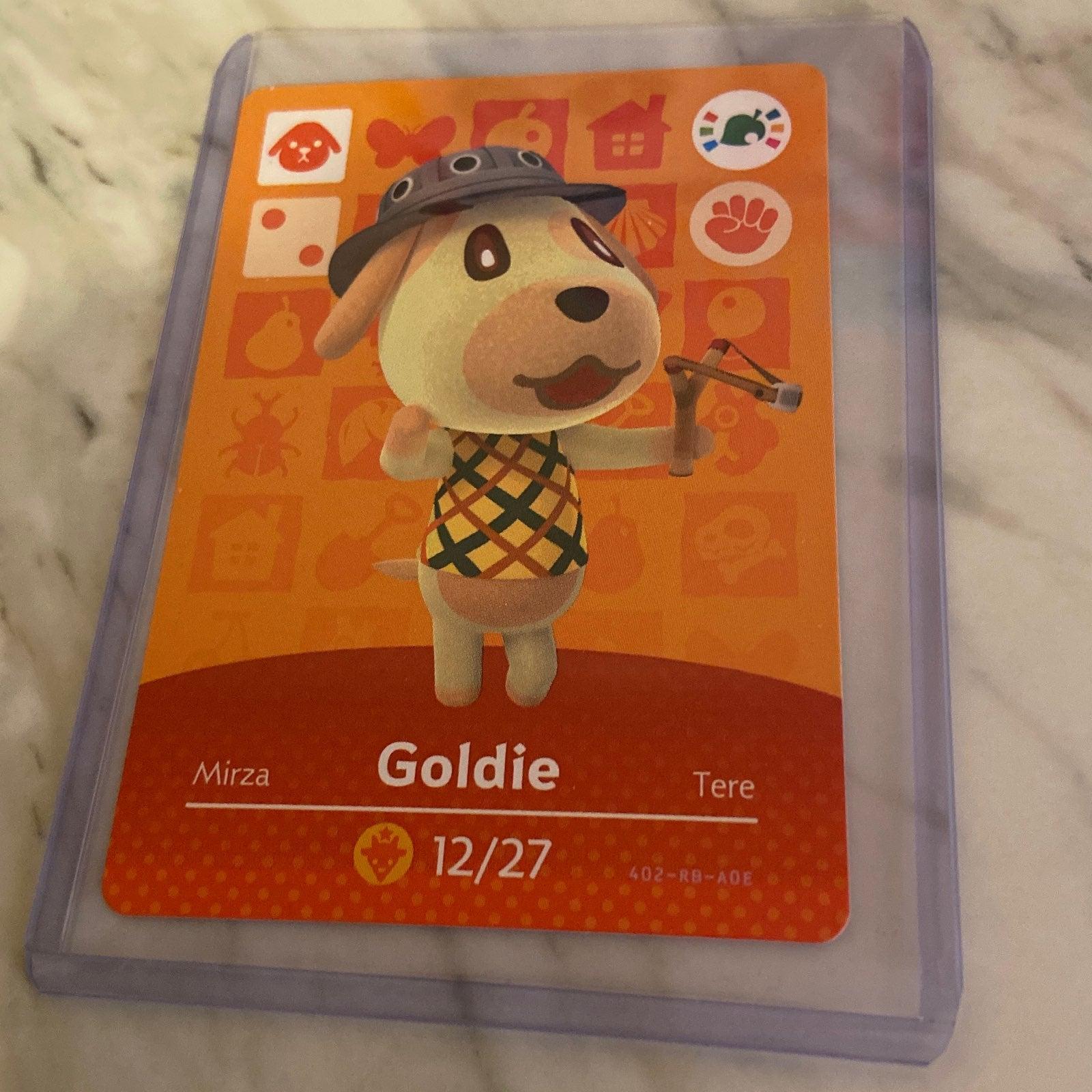 Goldie Amiibo Card