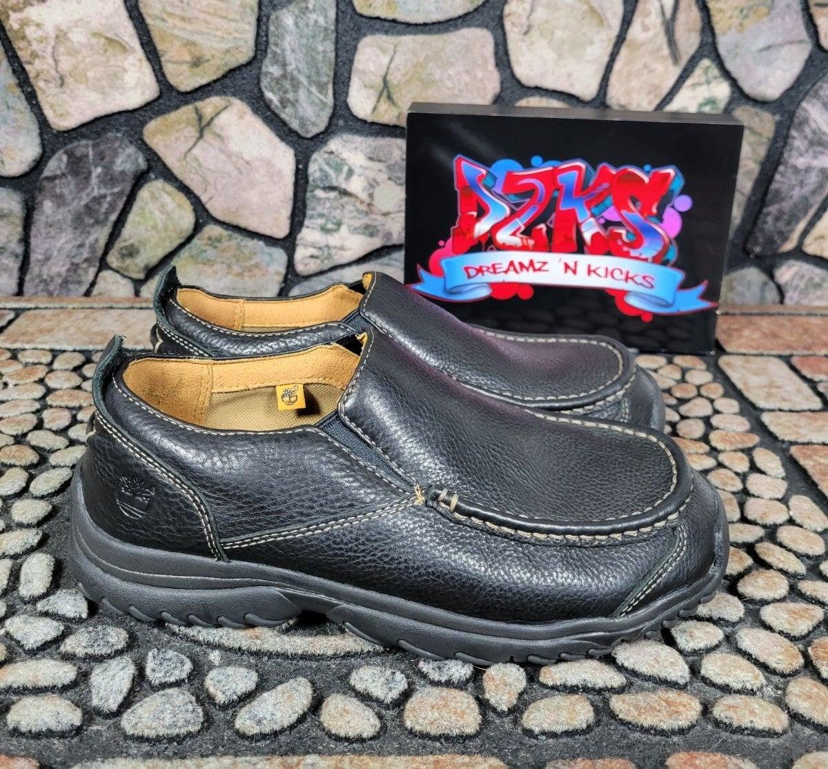 Timberland Kids Slip-On Black Leather