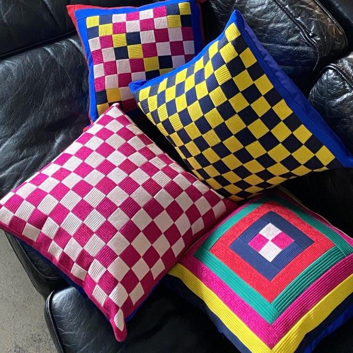 Handmade Hanbok Silk Cushion