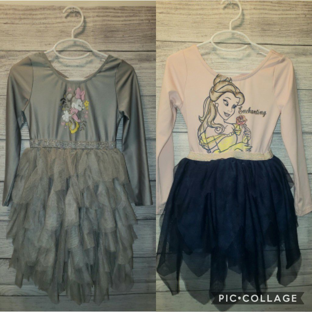 5T Disney Minnie Mouse and Belle Dresses