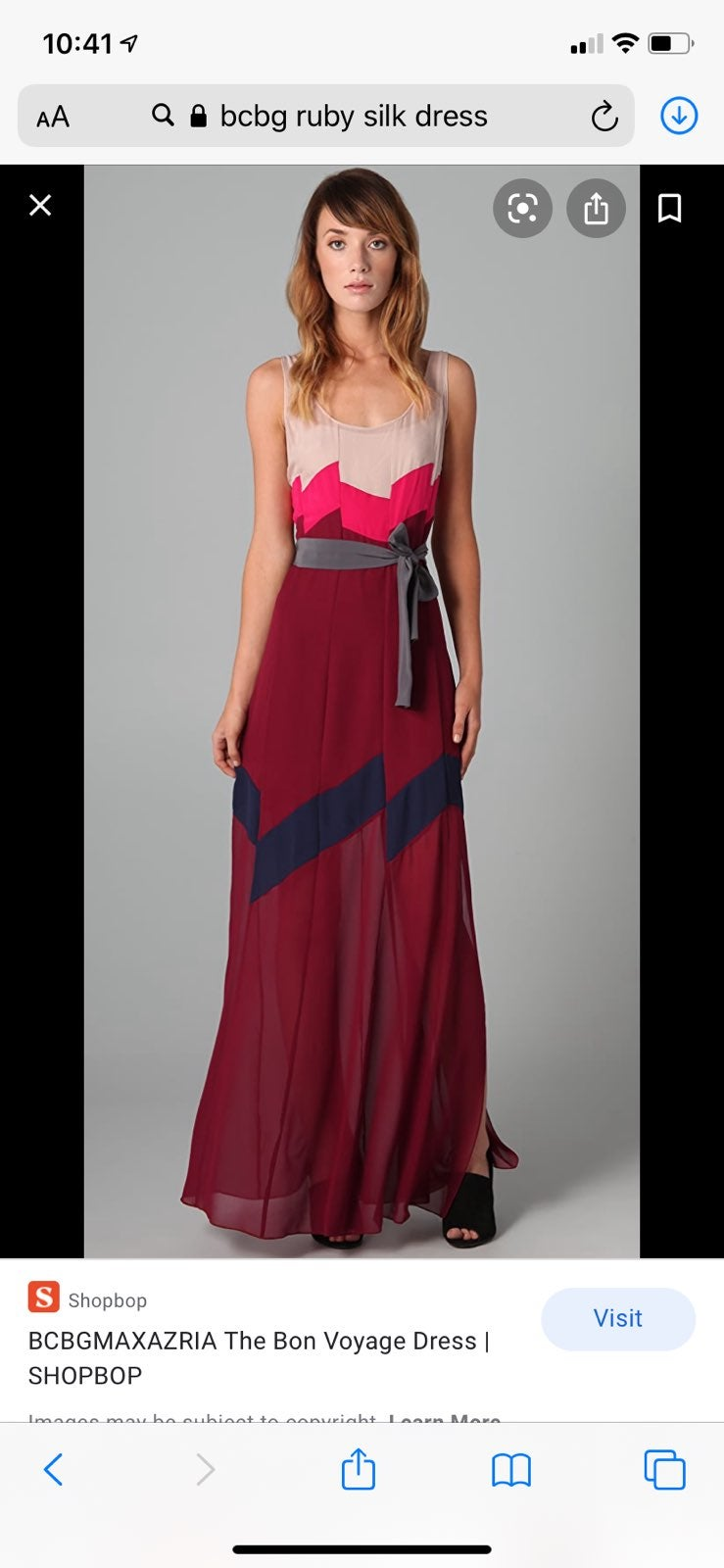 100% silk BCBG Maxi dress