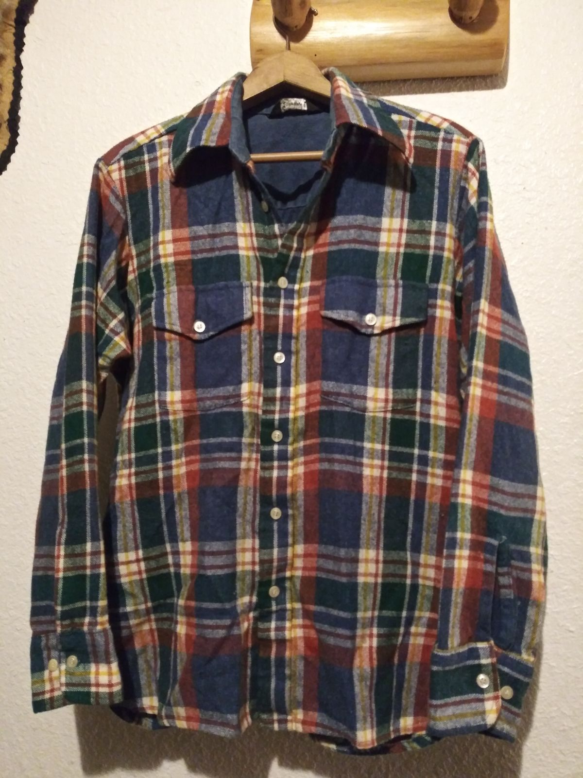 Vintage JCPenney Wool Blend Plaid Shirt