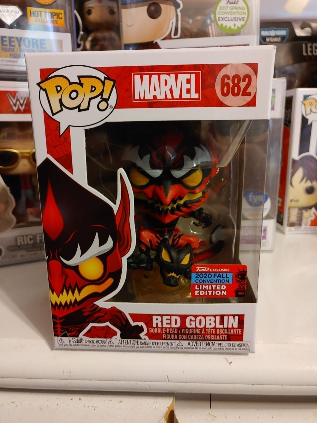 Funko pop Red Goblin NYCC exclusive