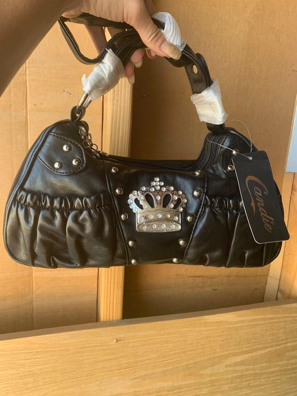 Black purse crown themed purse NWT