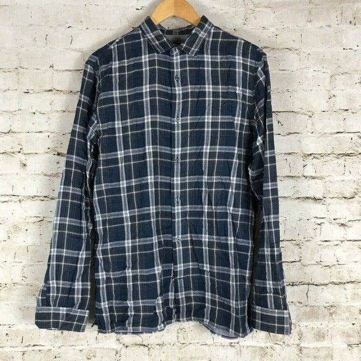 Vince Long Sleeve Button Down Shirt L