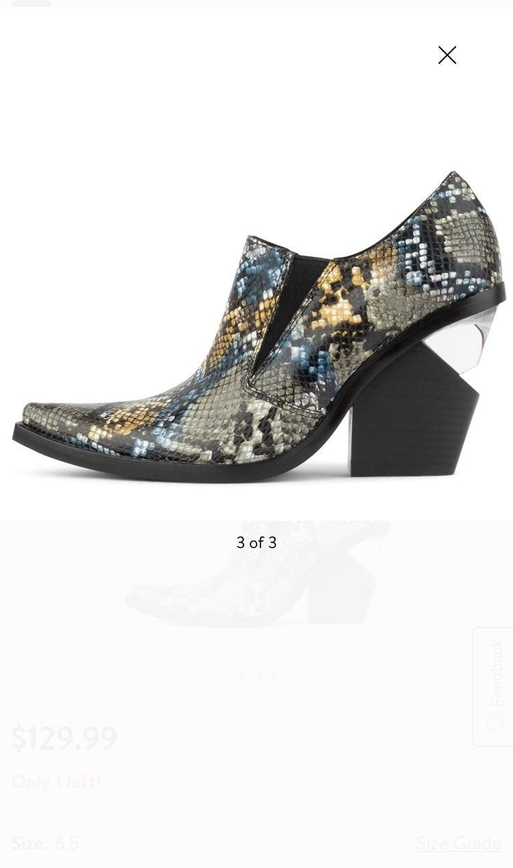 Jeffrey Campbell Flux Leather Snake Boot