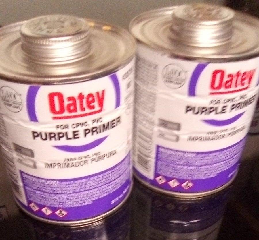 Oatey Purple Primer & PVC Clear Cement