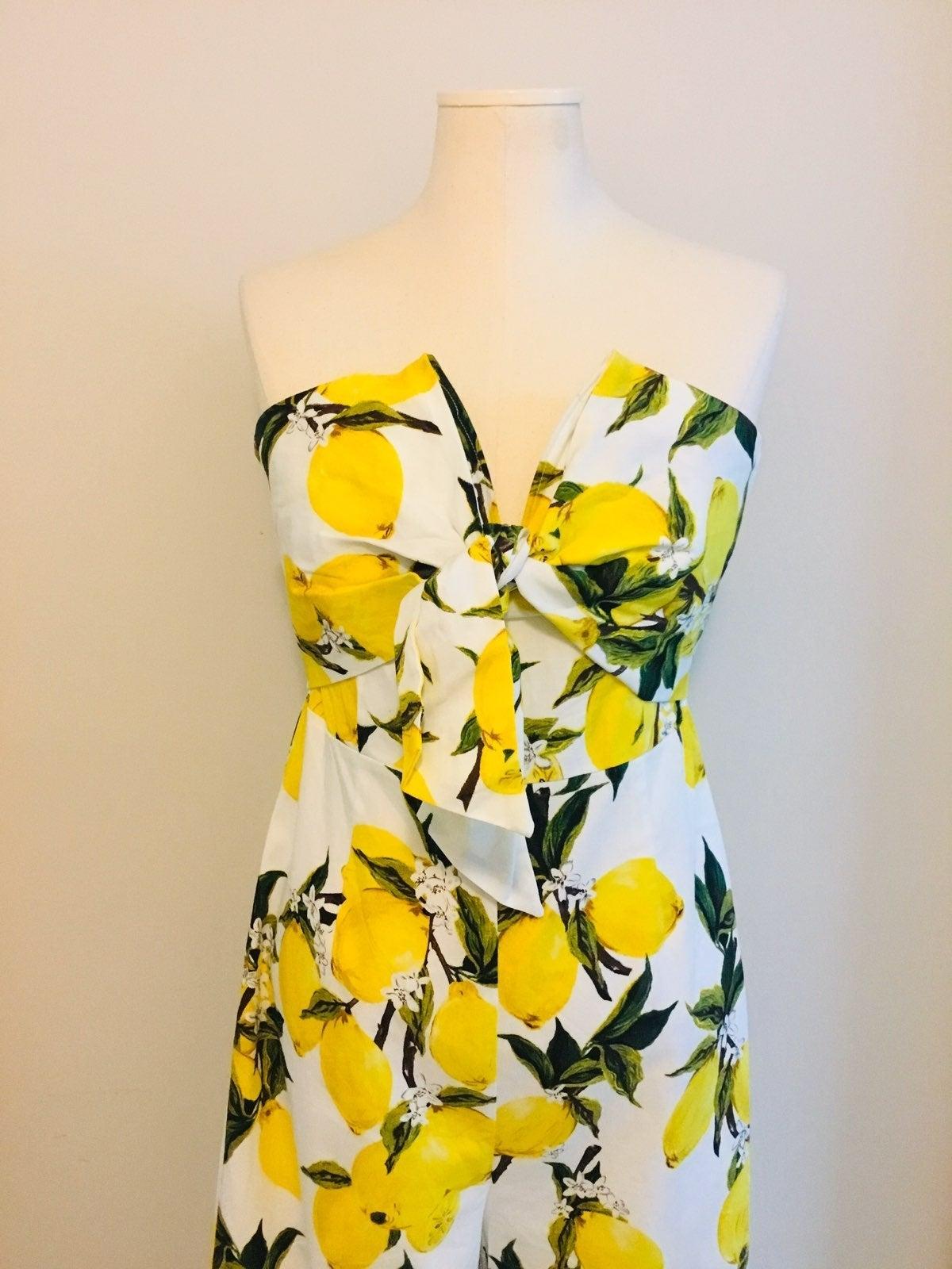 English Factory Lemon Print Jumpsuit