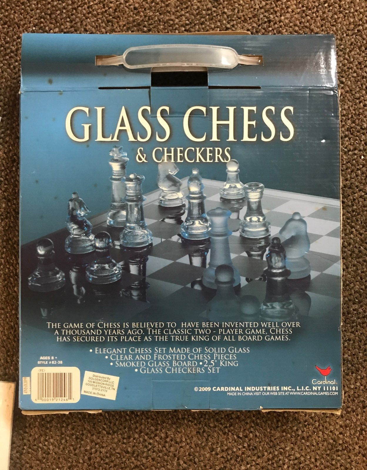 Cardinal Glass Chess and Checkers Set