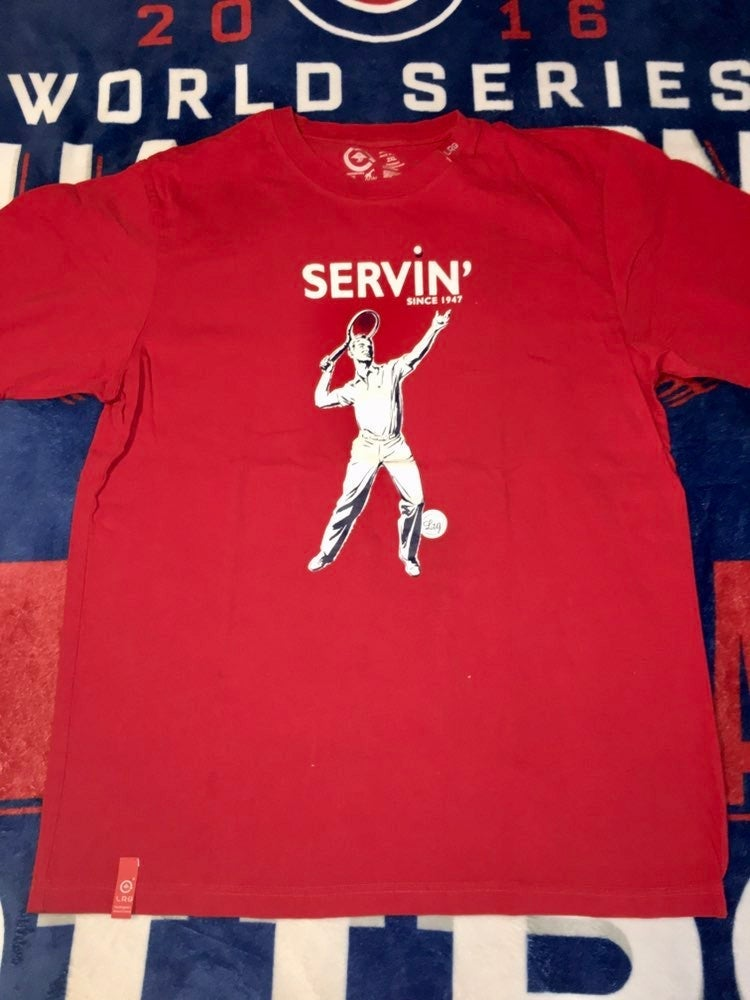 LRG Men's Servin' T-shirt Red XXL