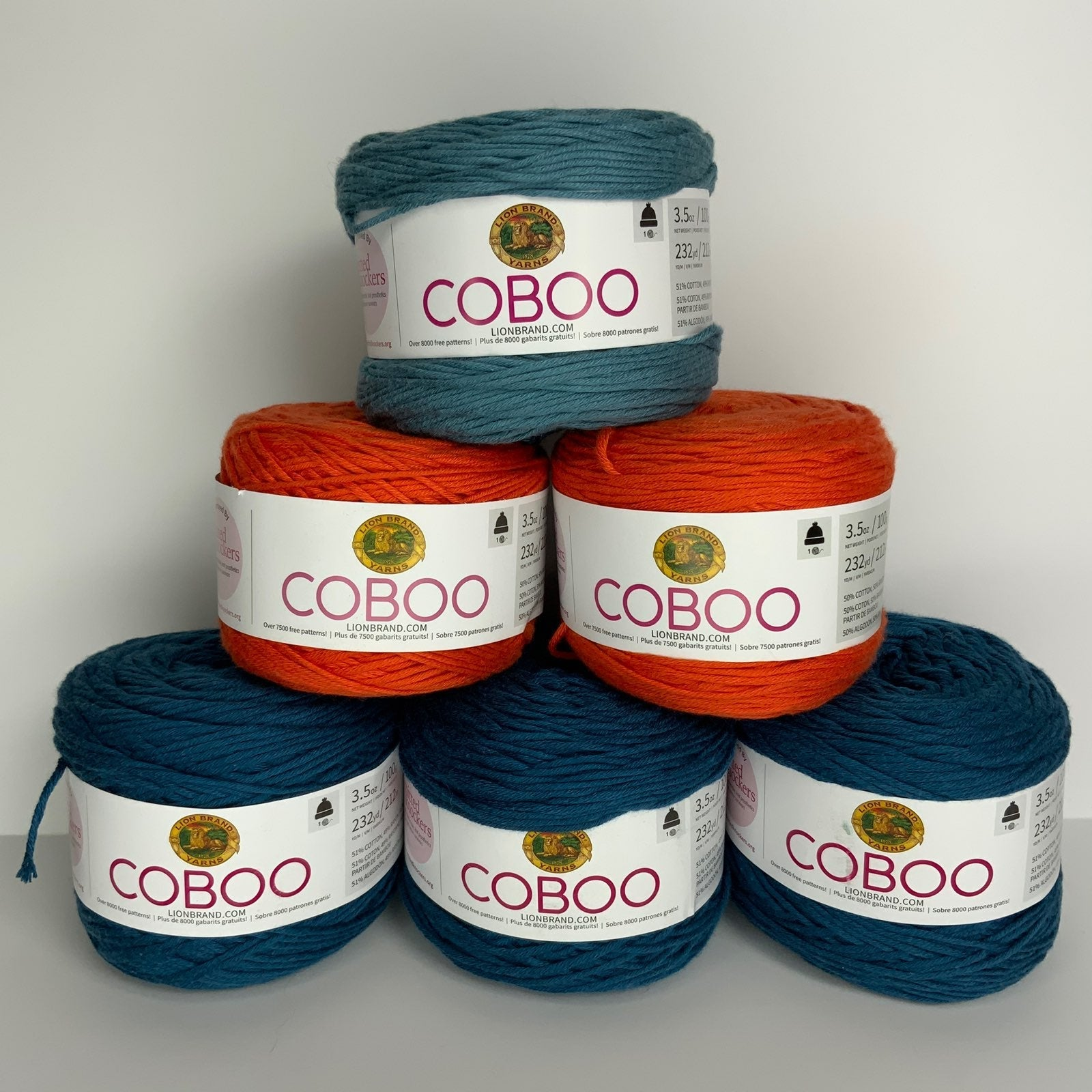 lot of 9 coboo blue/orange