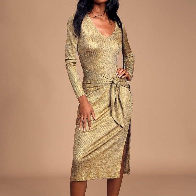Womens Lulus Optimistic Midi Dress Xs