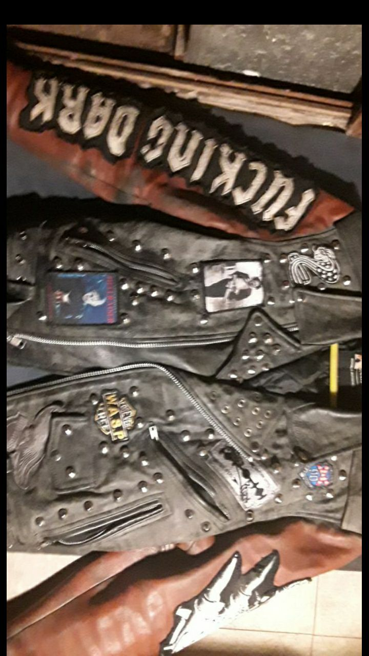 Custom  punk rock leather motorcycle jac