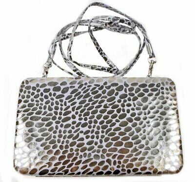 Silver Metallic Animal Print Wallet Purs