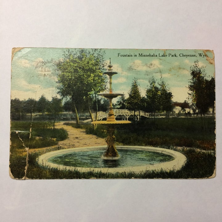 Vtg Postcard Minnehaha Cheyenne WY 1909