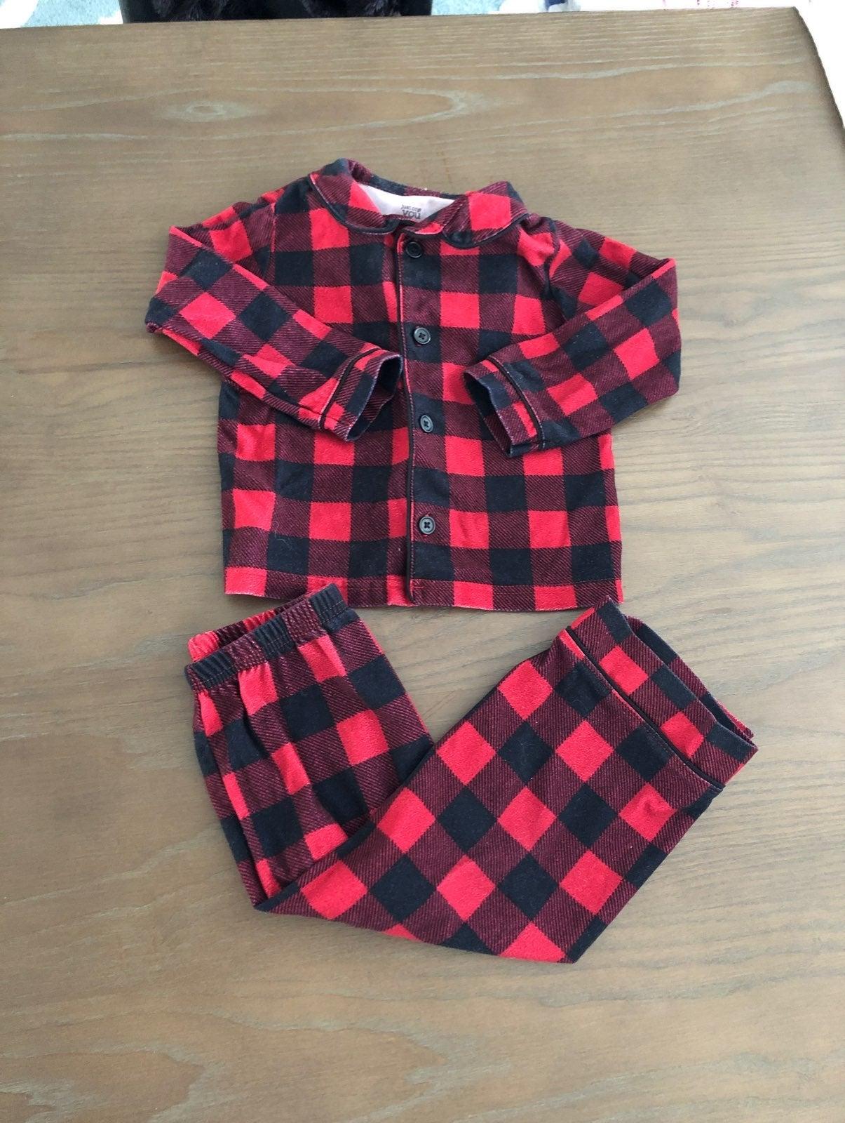 Carter's buffalo plaid flannel pajamas