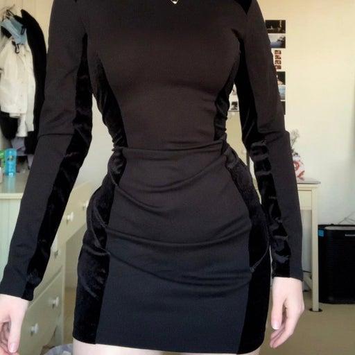 sexy black bodycon mini dress