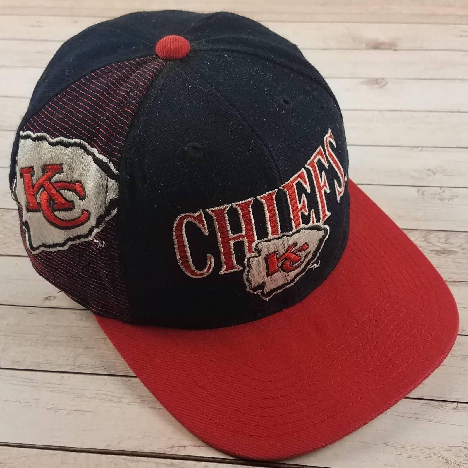 VTG 90s KC Chiefs SS Laser Hat