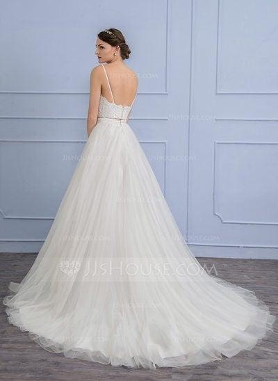 Tulle Train skirt-Ivory wedding dress 2