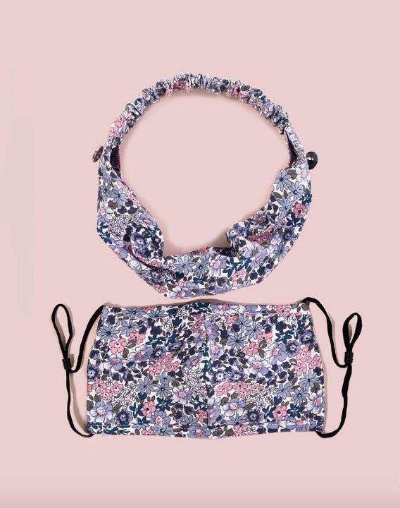 pink and purple floral set