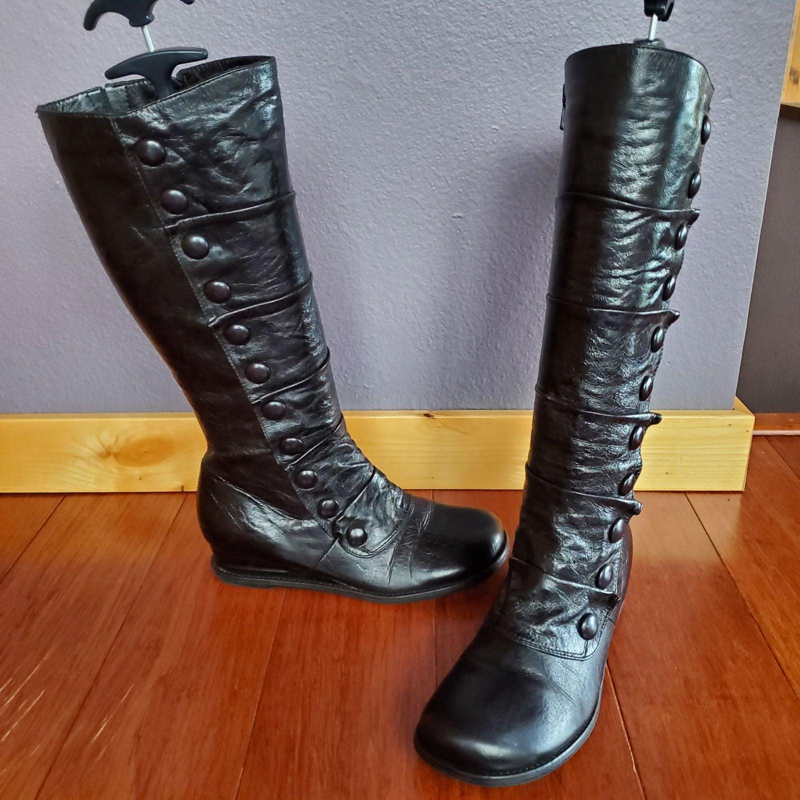 Miz Mooz Bloom Black Knee High Boots