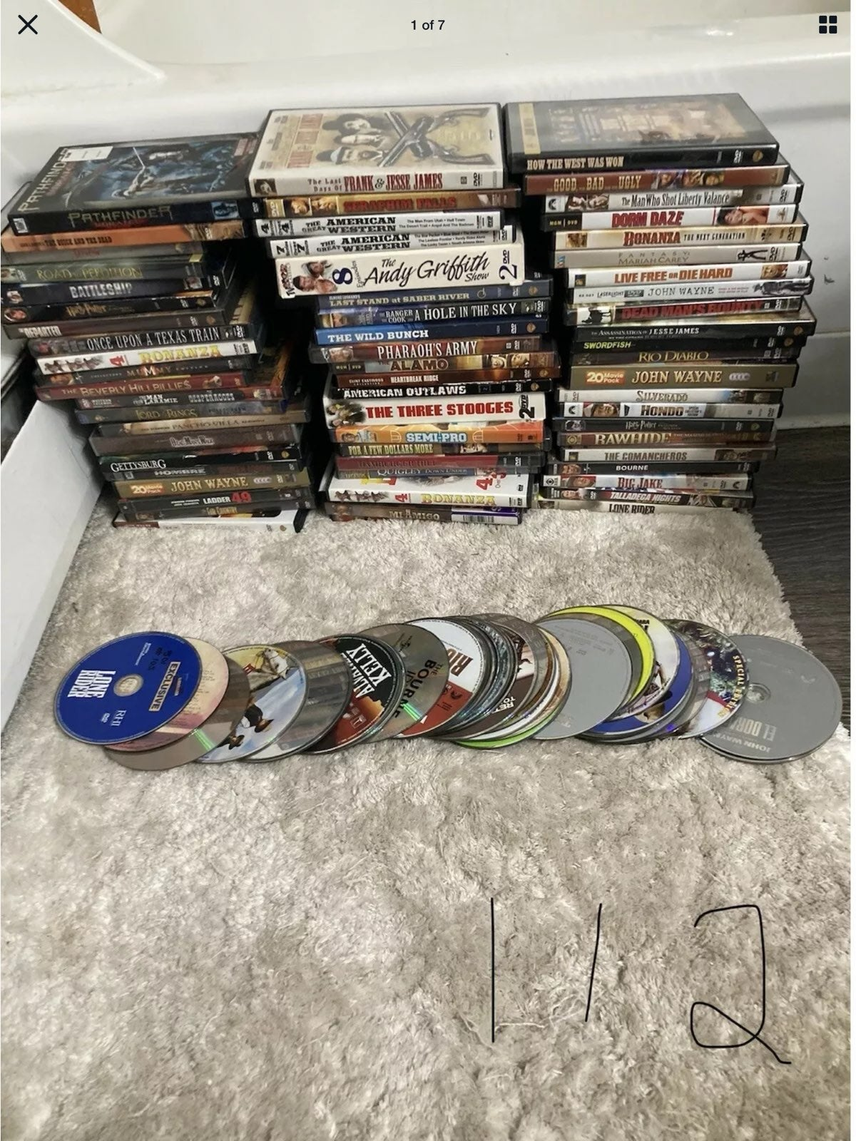 Lot of 112 DVDs - many Westerns