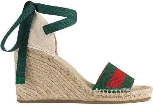 GUCCI | Stripes Open Toe Platform Casual