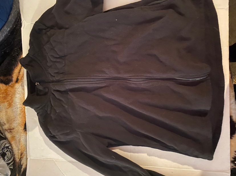 Black fleece women's jacket xl