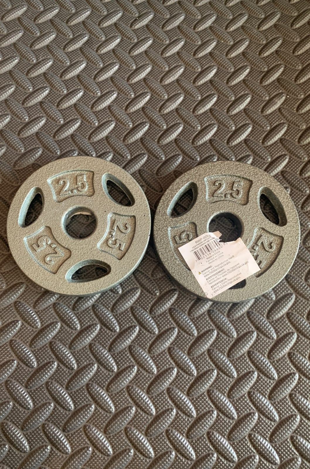 2.5 Lb Pound 1 inch Barbell Weight Plate