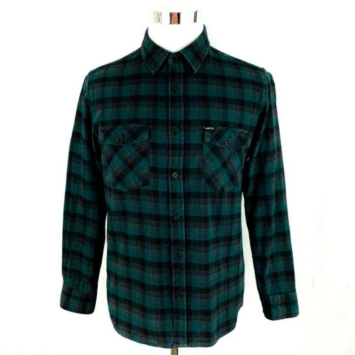 MATIX Long Sleeve Button Front Shirt L