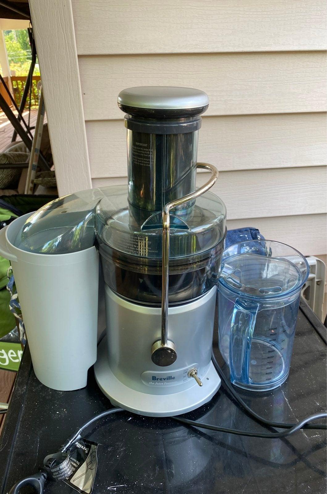 Breville Juicer juice fountain je98xl