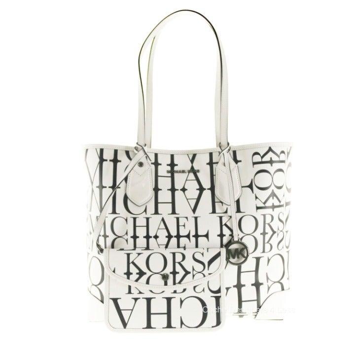 Michael Kors Eva Optic Logo Leather