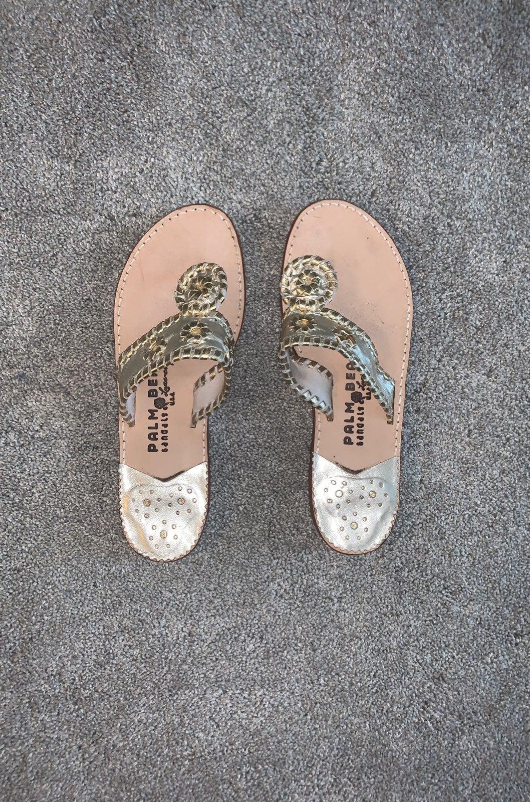 Palm Beach Platinum/Gold Sandal