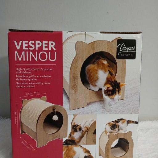 Catit Vesper Minou cat bench scratcher,