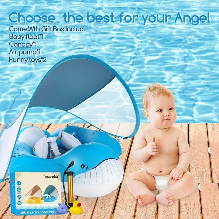 NEW!!  Inflatable Whale Baby Pool Float