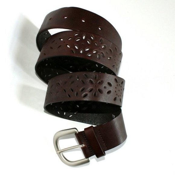 Genuine Leather J.Jill Floral Belt Sz M