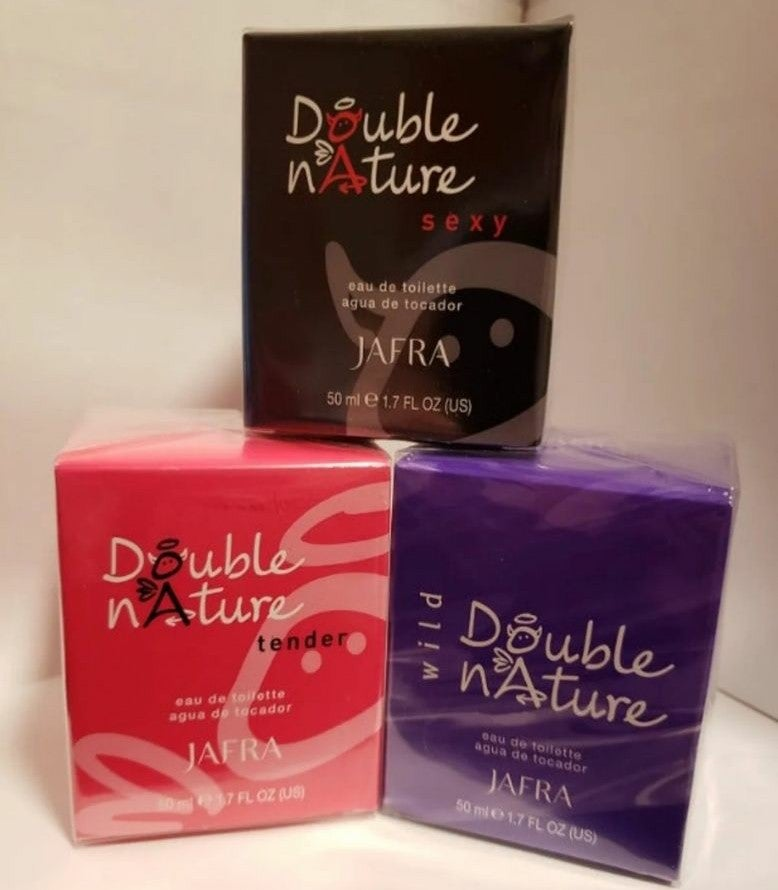 JAFRA DOUBLE NATURE TENDER, WILD & @SEXY