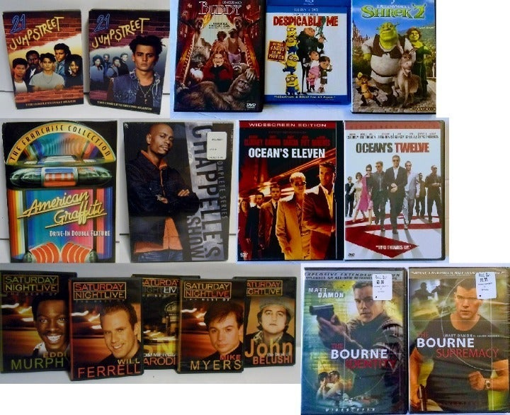 Lot of 70+ DVDs Blu-rays Movies