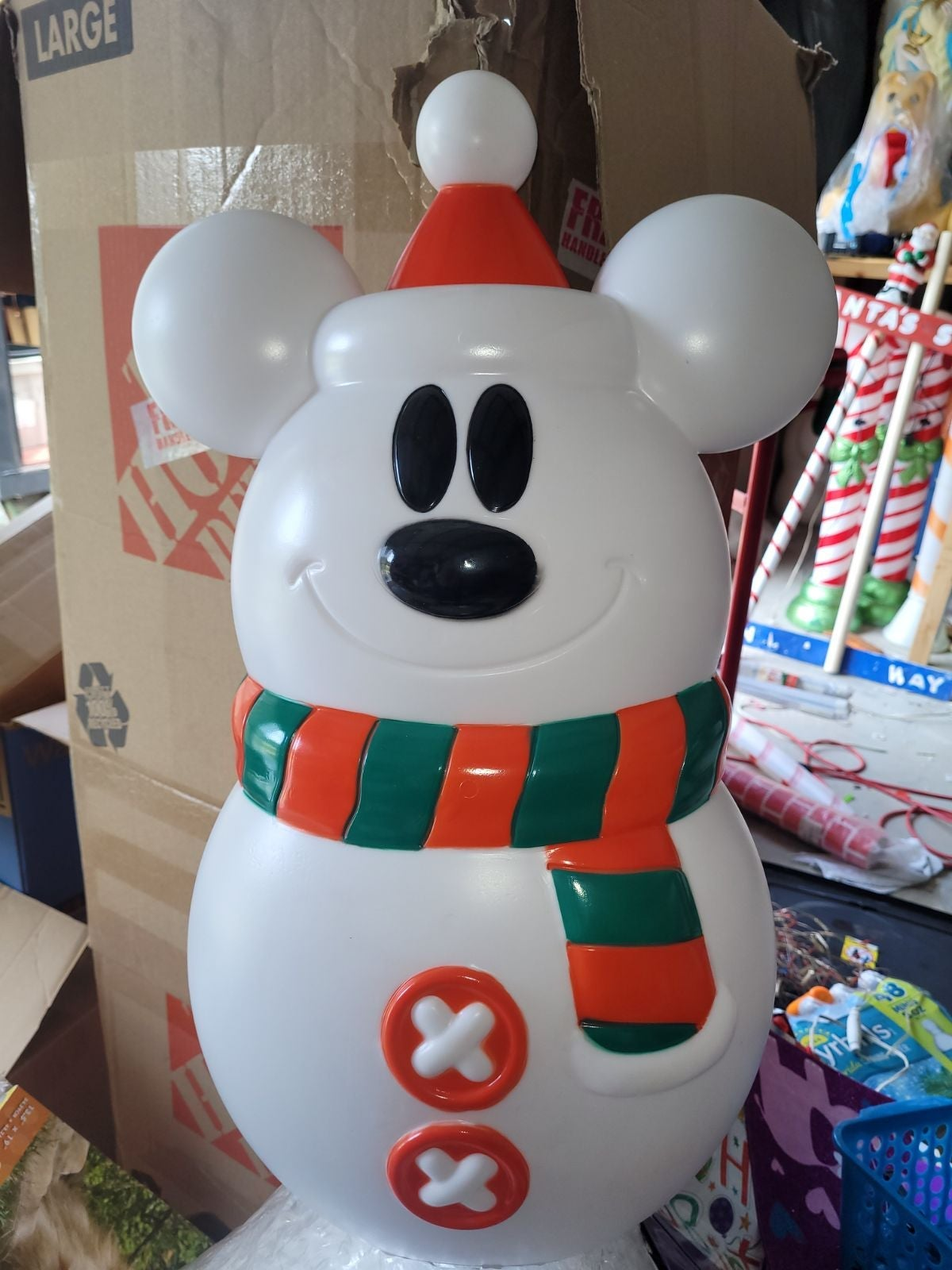 Gemmy Christmas Mickey Mouse Snowman