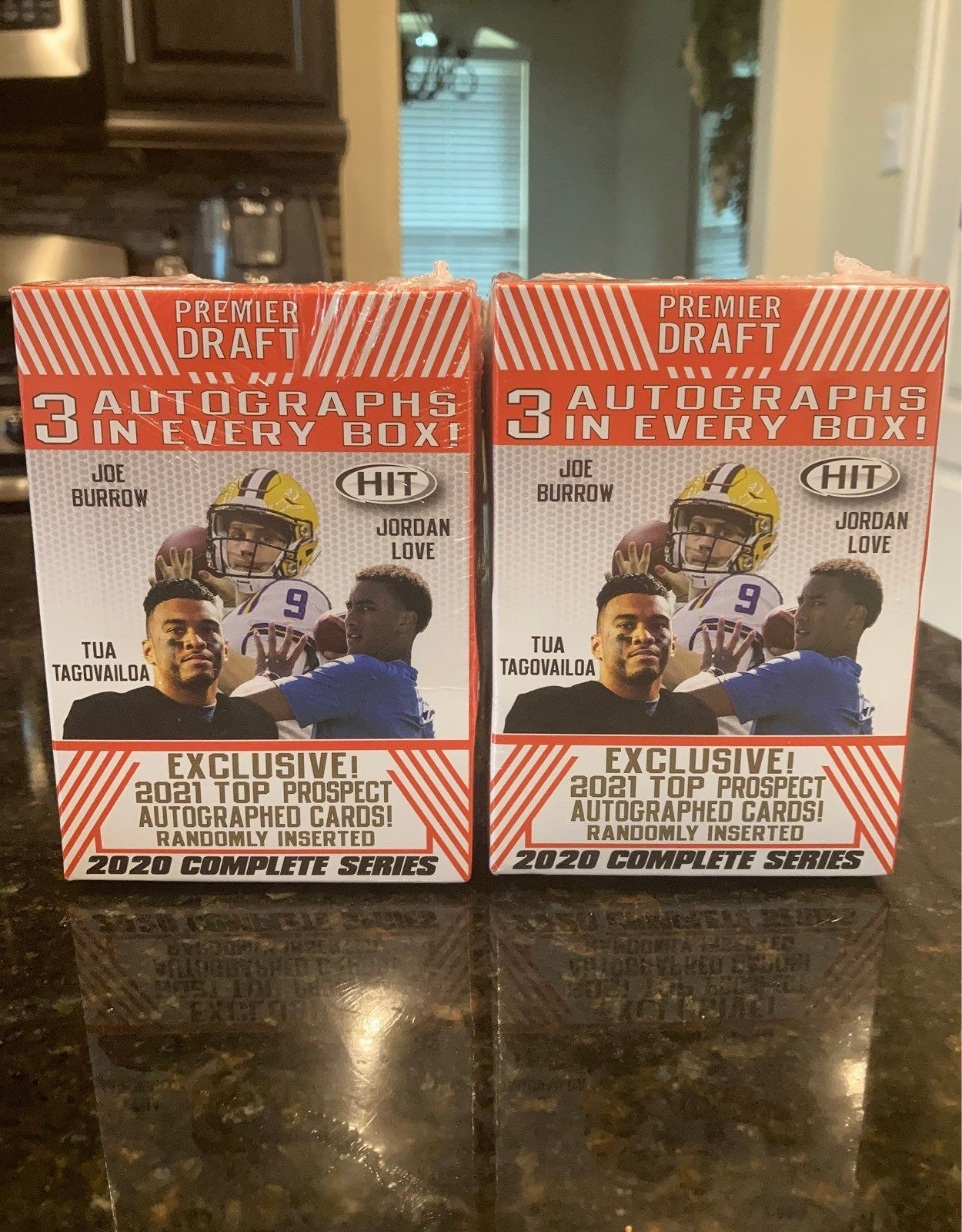 2020 Premier Draft HIT Football Blaster