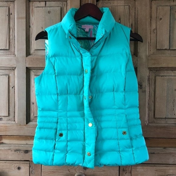 Lilly Pulitzer Small Puffer Vest As IS