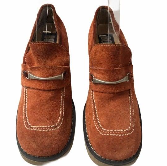 Vintage Suede Gummy Sole Platform Loafer
