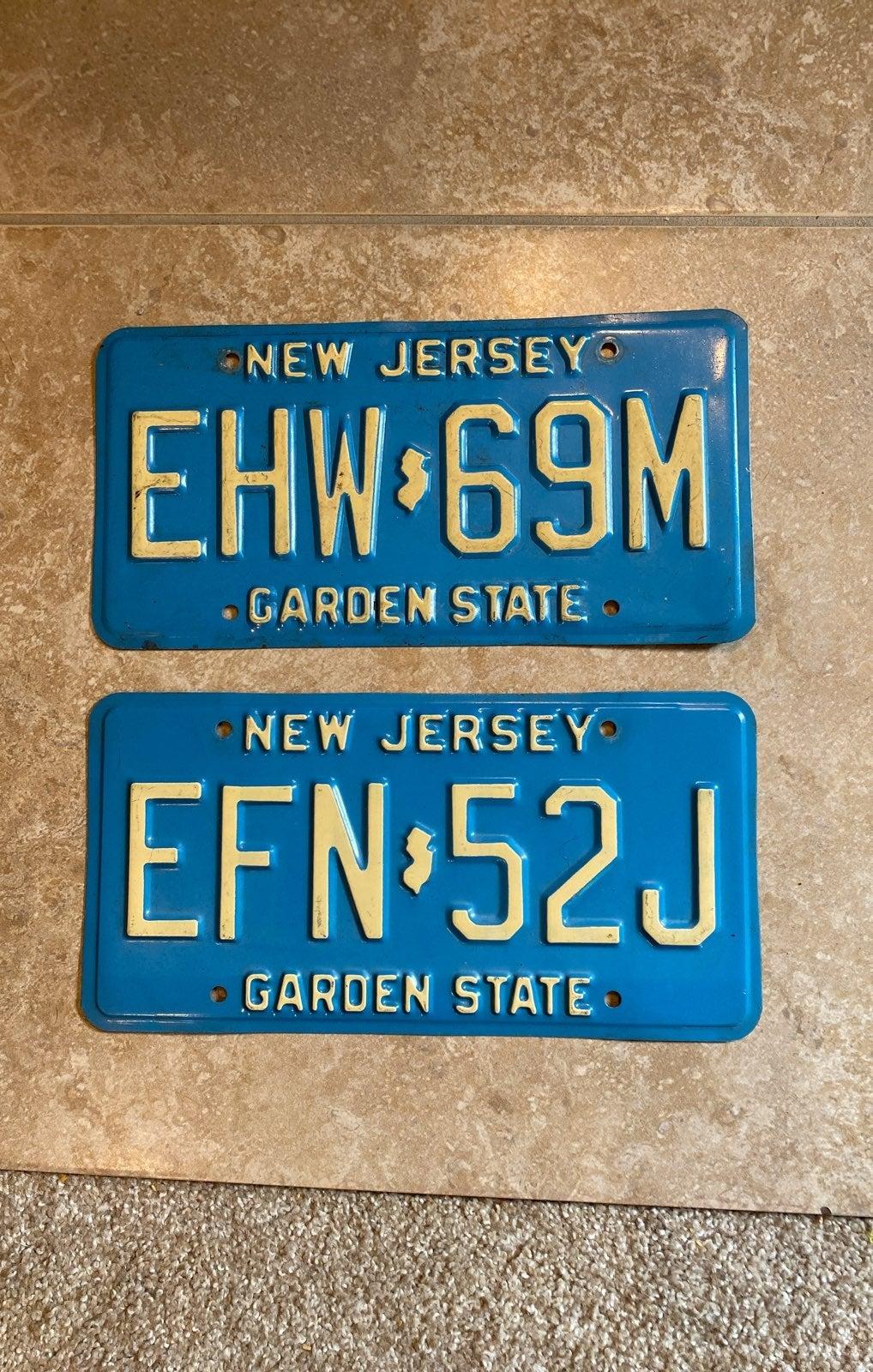 Vintage New Jersey License Plates