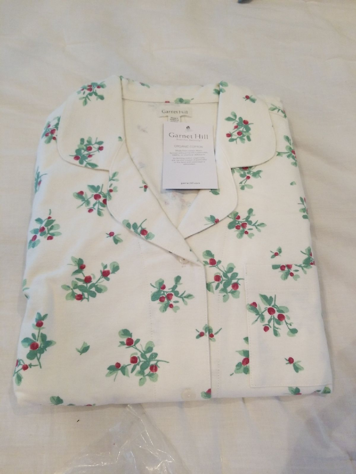 ⁰NWT Garnet Hill Organic Cotton PJ set